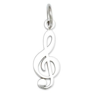 14k Yellow or White Gold Treble Clef Charm Pendant