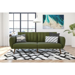 Carson Carrington Brandbu Mid-Century Fold Down Futon (Option: Green)
