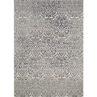 Couristan Patina All-over Kerman/Grey Power-loomed Courtron Polypropylene/Polyester Blend Rug (7'10 x 10'9)
