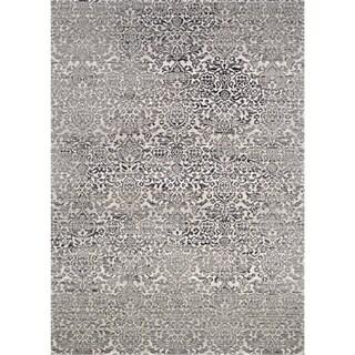Couristan Patina Black/Grey Polypropylene-blend Rug (5'3 x 7'6)