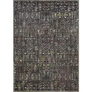 Couristan Patina Persian Black/Grey Polypropylene-blend Rug (7'10 x 10'9)
