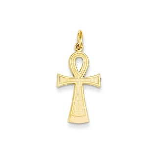 14k Yellow Gold Ankh Cross Pendant
