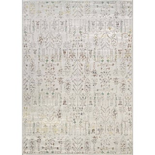 Couristan Patina Persian Cypress/Ocean Sand Power-loomed Courtron Polypropylene/Polyester Blend Rug (5'3 x 7'6)
