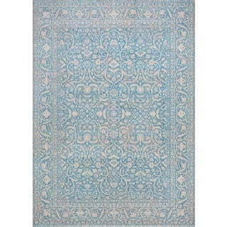 Couristan Patina Qum/Ocean Power-loomed Courtron Rug (7'10 x 10'9)