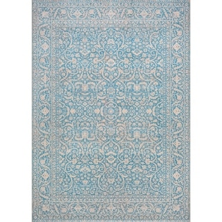 Couristan Patina Ocean Courtron Power-loomed Rug (5'3 x 7'6)