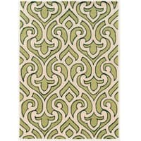 Hand Tufted TRIO Loken Green Polyester Rug (8' X 10') - 8' x 10'