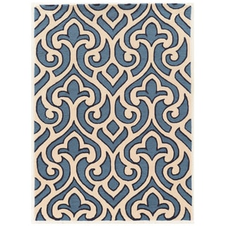 Hand Tufted TRIO Loken Blue Polyester Rug (8' X 10')