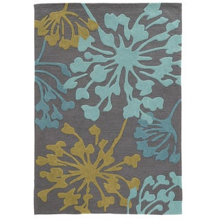 Hand Tufted TRIO Dandelion Grey Polyester Rug (8' X 10')