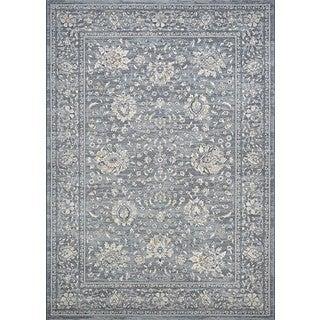 Couristan Sultan Treasures Persian Isfahan/Slate Power-loomed Coutron Polypropylene Rug (2' x 3'7)