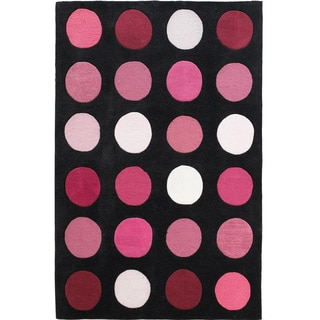 Hand Tufted Trio Collection Paintbox Pink Polyester Rug (8' X 10')
