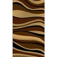 Kayra 7515 Brown Polypropylene Machine-Made Area Rug (8' x 10')