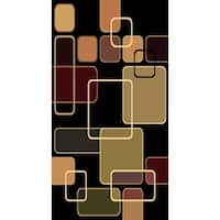 Kayra 7506 Black Polypropylene Machine-made Area Rug (8' x 10')