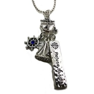 Mama Designs Handmade Refuse to Sink Anchor Strength Necklace