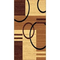 Kayra 7000 Brown Polypropylene Machine-made Area Rug (8' x 10')