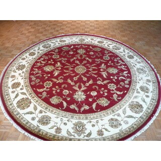 Hand Knotted Red Tabriz with Wool and Silk Oriental Rug (10 x 10'1)