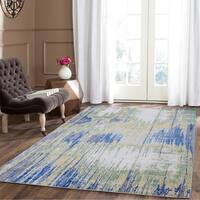 Blue/Grey Polypropylene Gradient Area Rug - 8' x 11'