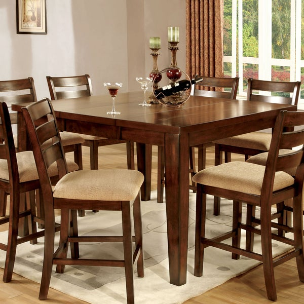 Furniture Of America Belvedere Antique Oak Counter Height Dining Table