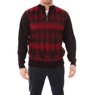 Dinamit Jeans Men's Cardinali Argyle Quarter-zip Sweater