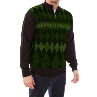 Dinamit Jeans Men's Cardinali Argyle Quarter-zip Sweater (Option: SW105-OLIVE GREEN-XXL)