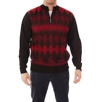 Dinamit Jeans Men's Cardinali Argyle Quarter-zip Sweater