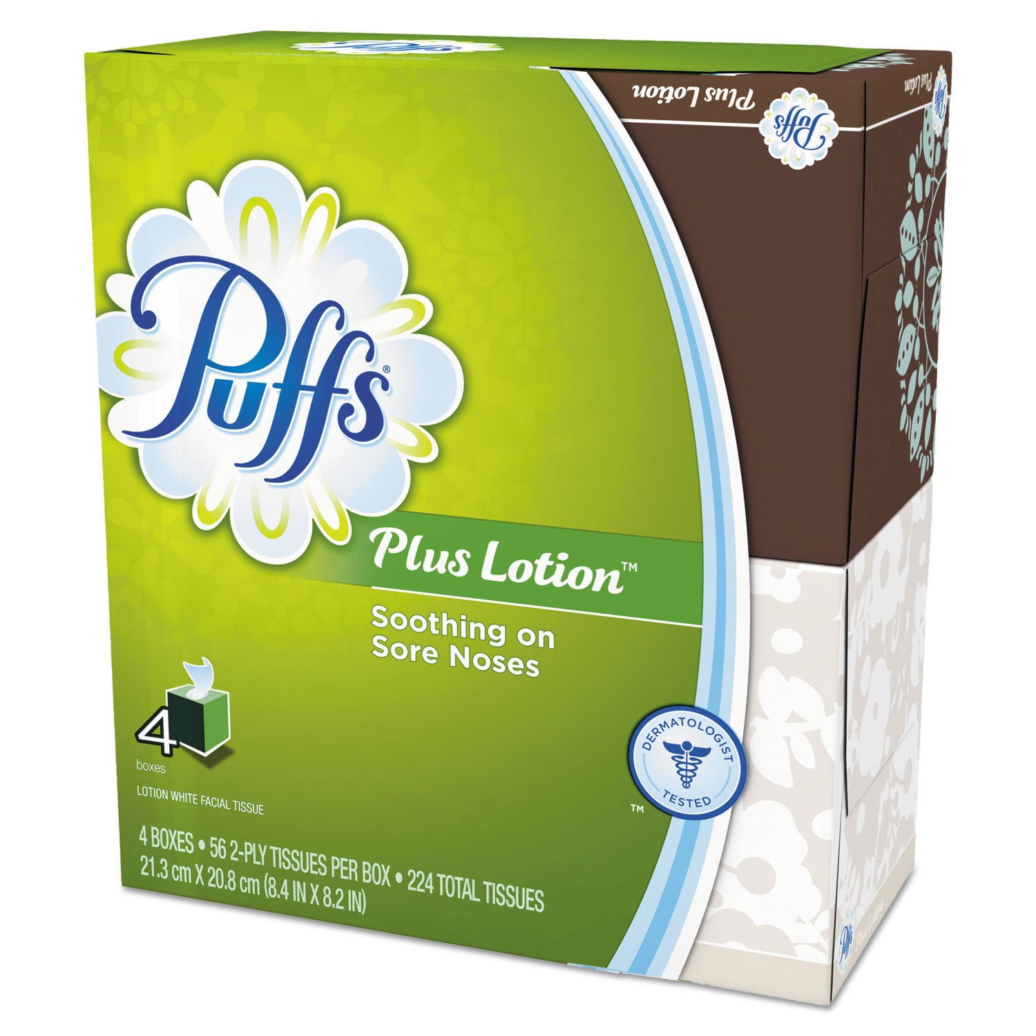 Puffs Plus Lotion Facial Tissue White 1-Ply 8 1/5 inches ...