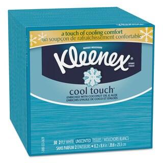 Kleenex Cool Touch Facial Tissue 2-Ply 50 Sheets per Box 27/Carton
