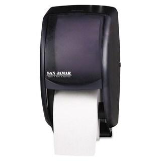 San Jamar Duett Standard Bath Tissue Dispenser, 2 Roll, 7 1/2w x 7d x 12 3/4h, Black Pearl