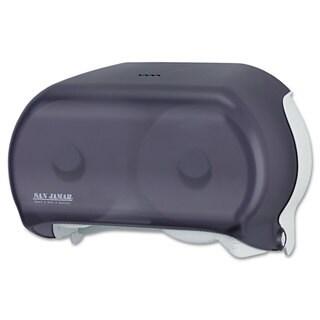 San Jamar VersaTwin Tissue Dispenser, 8 x 5 3/4 x 12 3/4, Transparent Black Pearl