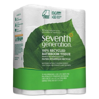 Seventh Generation 100-percent Recycled Bathroom Tissue Two-Ply White 500 Sheets/Roll 24/Pack 2 Pack/Carton