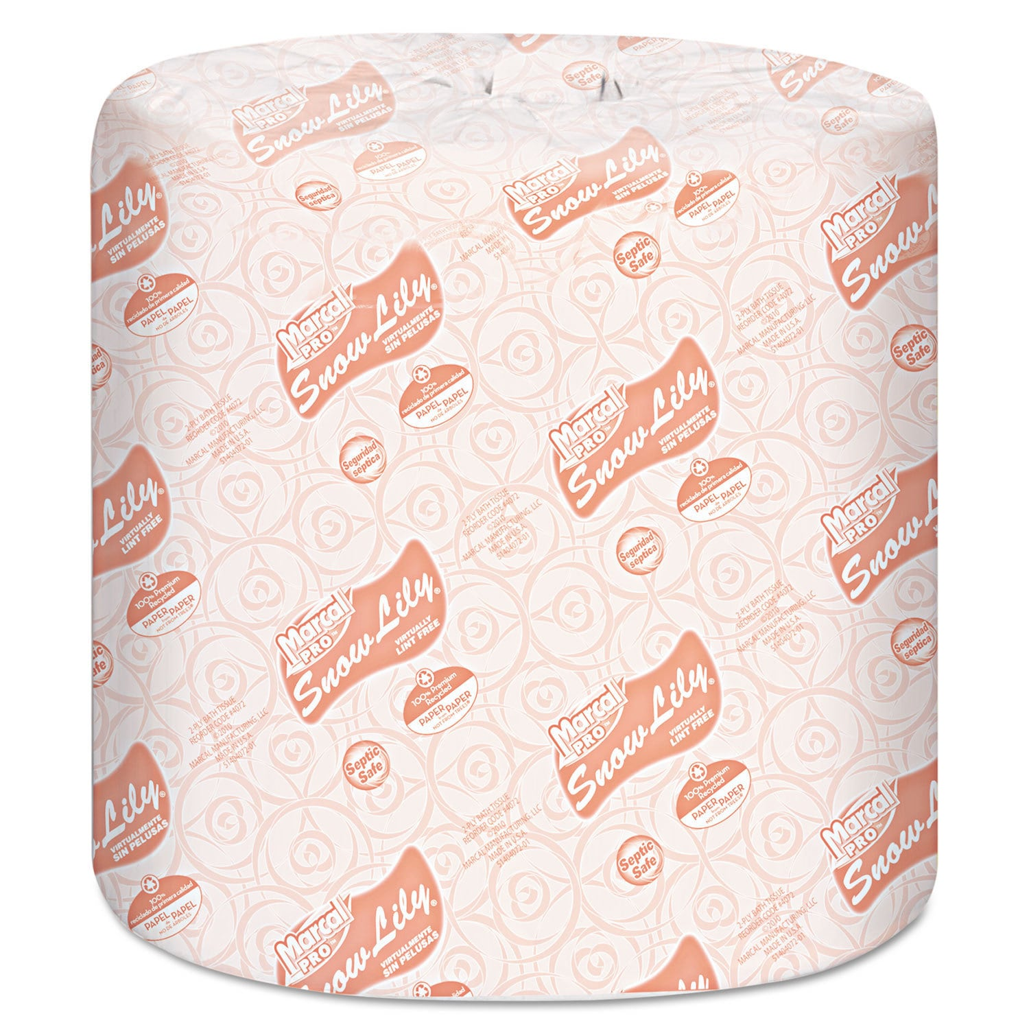 Marcal Snow Lily Recycled Bath Tissue 2-Ply White 336 She...