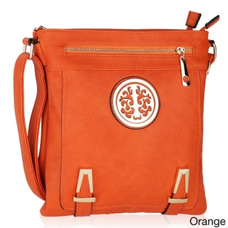 MKF Collection Lean Cross body Bag by Mia K. Farrow (Option: Orange)