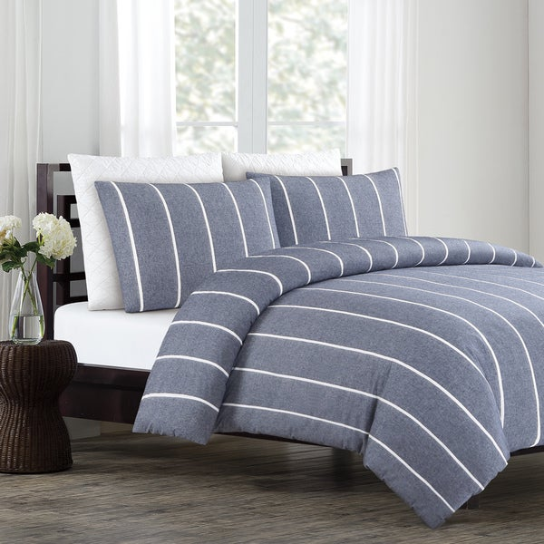 d09122920a Shop Soho Yarn Dyed Cotton Duvet Cover Set - Free Shipping Today ...