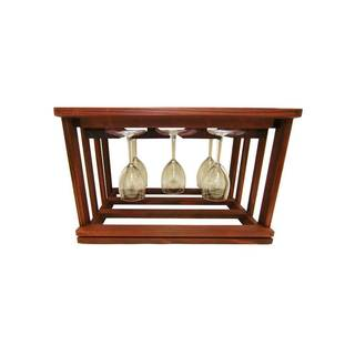 Wine Cellar Innovations Mini-stack Series Stackable Classic Mahogany Stain Glass Rack