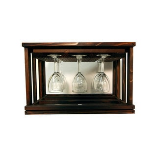 Wine Cellar Innovations Mini-stack Series Brown Wood Stackable Glass Rack
