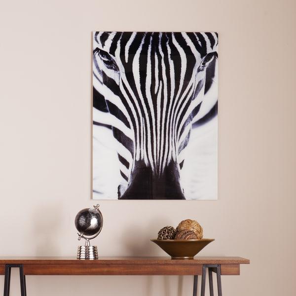 Shop Harper Blvd The Zebra Glass Wall Art - On Sale - Free Shipping ...