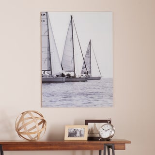 Harper Blvd Three Sails Glass Wall Art