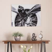 Harper Blvd Old Aircraft Propeller Engine Glass Wall Art