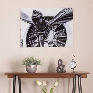 Harper Blvd Old Aircraft Propeller Engine Glass Wall Art