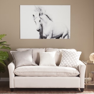 Harper Blvd White Horse II Glass Wall Art
