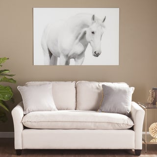 Harper Blvd White Horse I Glass Wall Art