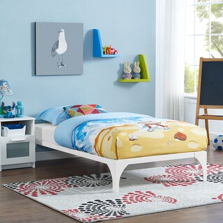 Ollie Twin-size Bed Frame in White