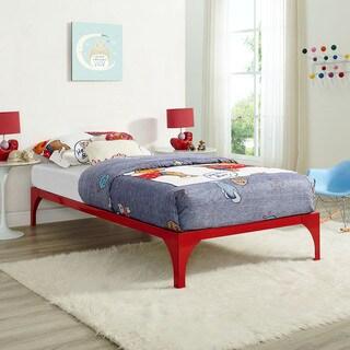Ollie Red Steel Twin-size Platform Bed