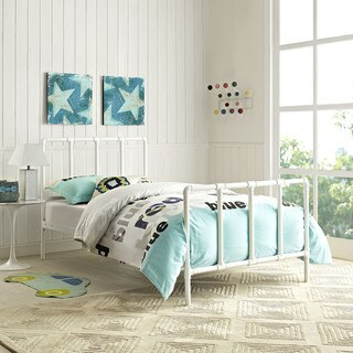 Dower Bed in White