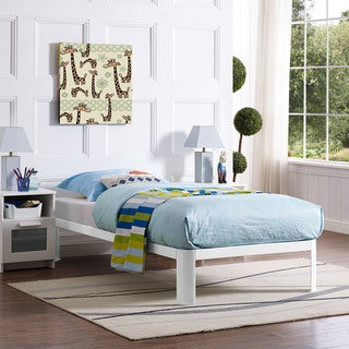 Corinne Twin-size Bed Frame in White