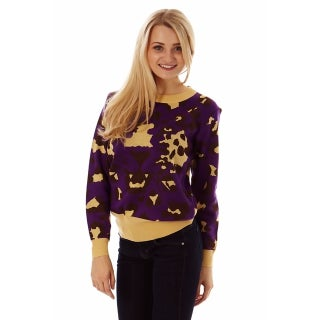 Dinamit Women's Soft Knit Leopard Print Sweater