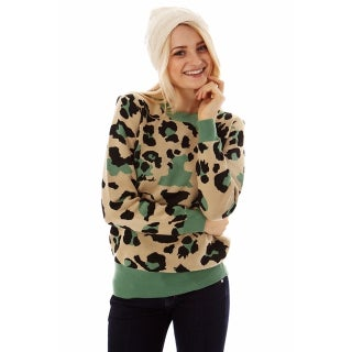 Dinamit Women's Soft Knit Leopard Print Sweater (More options available)