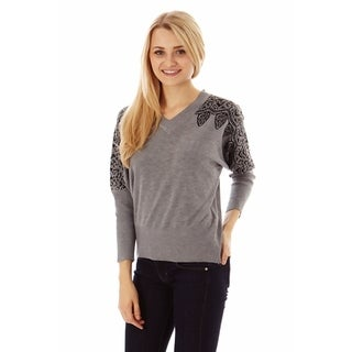 Jon Anna Women's Lace Detail Spring Sweater (Option: Blue)