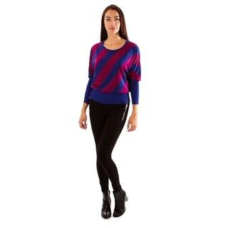 Jon & Anna Women's Multicolor Stripe Pullover Sweater