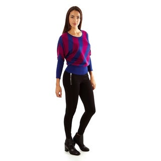 Jon & Anna Women's Multicolor Stripe Pullover Sweater