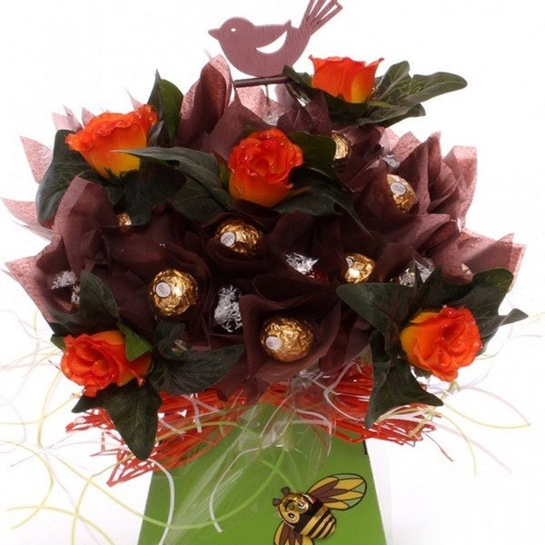 Ferrero Rocher and Lindor Chocolate For Him Bouquet